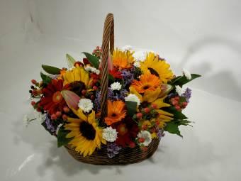 Cesto con fiori Misti