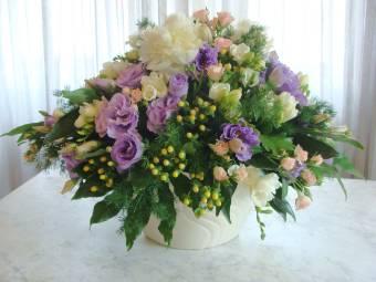 composione fiori freschi