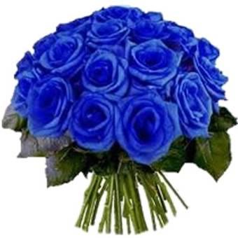 Mazzo elegante con 9 rose BLU