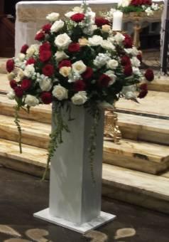 composizione floreale matrimonio con rose