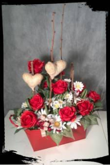 Composizione floreale artificiale