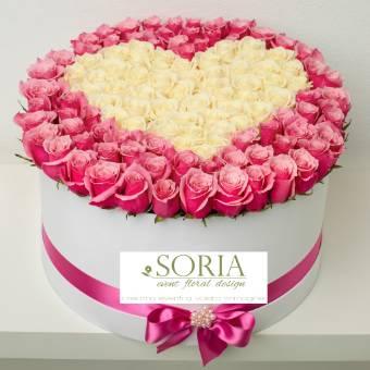 custom pink box 75-85 rose