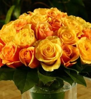 BOUQUET di rose giallo/arancio
