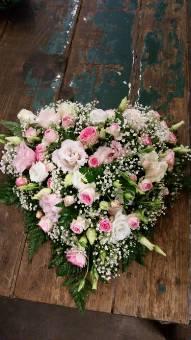 Cuoricino Bianco e Rosa