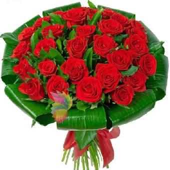 bouquet con 36 belle rose rosse per momenti