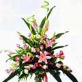 rose lilium  steli decorativi foglie eleganti