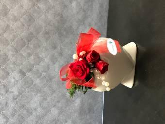 Cuore con rose stabilizzate