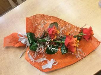 Mazzo 3 rose arancioni