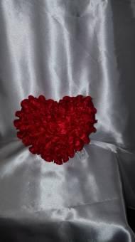 cuore spugna con roselline raso