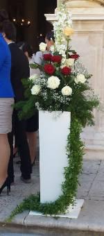 centrotavola matrimonio di rose bianco ecc
