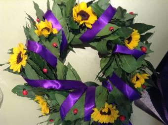 Coroncina laurea con fiori