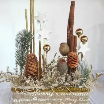 Centrotavola natalizio natura