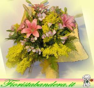 Mimosa e fiori misti.