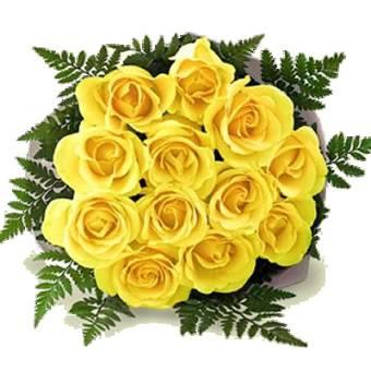 BOUQUET con 9 rose GIALLE