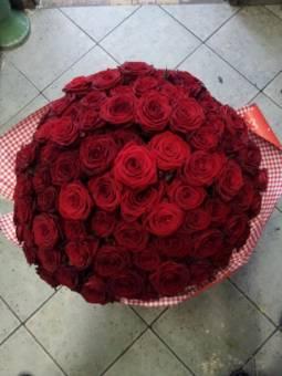 Bouquet 100 Rose Rosse