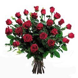 Mazzo di rose rosse a gambo lungo