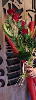 5 rose rosse san Valentino