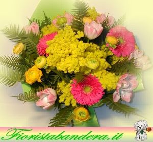Bouquet mimosa e fiori.
